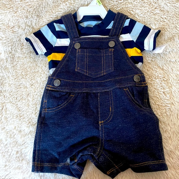 3 month overall outfit NWT